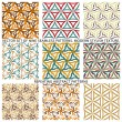 Set Of Nine Textured Natural Seamless Patterns Backgrounds — Stock Vector #77529854
