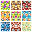 Set Of Nine Textured Natural Seamless Patterns Backgrounds — Stock Vector #77529972