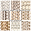 Set Of Nine Textured Natural Seamless Patterns Backgrounds — Stock Vector #77529974