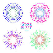 Background design with abstract fireworks and salute. — Stock Vector
