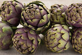 Artichokes and asparagus — Stock Photo
