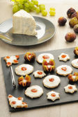 Appetizers canapes — ストック写真