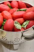 Molho de tomate caseiro — Fotografia Stock