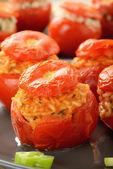 Tomates recheados com arroz — Foto Stock