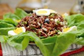 Ensalada de arroz rojo — Foto de Stock