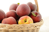 Apricots in basket — Stock Photo