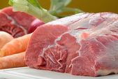 Piece of raw meat — Stock Photo