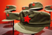 Red army partisan hat — Stock Photo