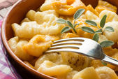 Gnocchi with butter — Stock Photo
