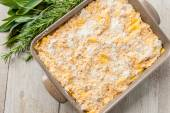 Pan of lasagna — Stock Photo