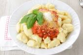 Gnocchi with butter and sage — Stock Photo