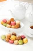 Macarons tijdens een snack — Stockfoto