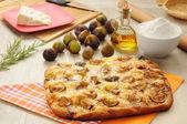 Pizza and focaccia — Stock Photo
