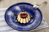 Panna cotta pudding — Stock Photo