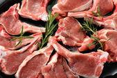 Raw lamb chops — Stock Photo