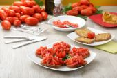 Friselle with tomatoes — Stock Photo