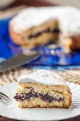 Cake filled with jam — Foto de Stock