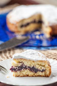 Cake filled with jam — Stockfoto