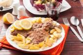 Wiener Schnitzel — Stock Photo