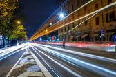 Modern urban city at night time — Stock Photo