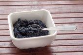 Small portion of black Caviar — Stock Photo
