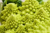 Green cauliflower on a table — Stock Photo