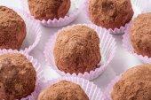 Sweet chocolate pralines — Stock Photo