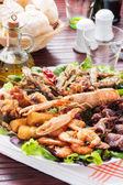 Sea food plate — Stock Photo
