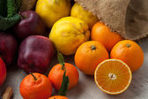 Vegetables and Fruits background — Stock Photo