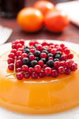 Orange jelly on a table — Stock Photo