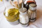 Cruet and salt shaker — Stock Photo