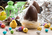 Easter eggs chocolate — Stock Photo