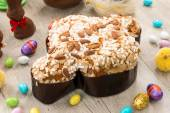 Easter dove cake chocolate — Stock Photo