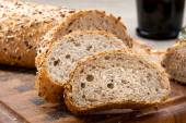 Sliced bread with seeds — Foto de Stock