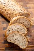 Sliced bread with seeds — Stock Photo