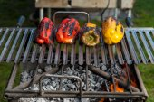 Bell peppers on the grill — Stockfoto