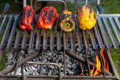 Bell peppers on the grill — Stock Photo