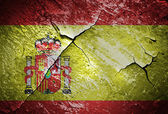 Spain flag with old texture grunge — Stock Photo