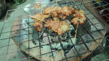 Roast Pork on oven, Thailand's famous cuisine. — Wideo stockowe