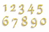 Números de oro con diamantes — Vector de stock