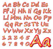 Sequins alphabet letters — Stock Vector