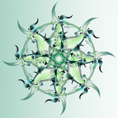 Green flower ornament — Stockfoto