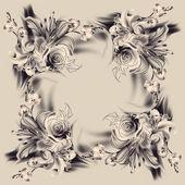 Blumen-Bleistiftzeichnung — Stockfoto