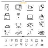 Vetor de ícones de comunicação — Vetor de Stock