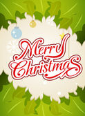 Merry christmas typography background vector icon — ストックベクタ