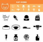Cat icon set vector — Stock Vector