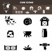Cow farm icon vector — Stock Vector
