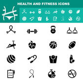 Health and fitness icon vector — Stock Vector