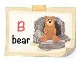 熊图矢量的动物字母字母 b — 图库矢量图片