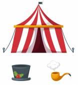 Colorful circus set vector — Stock Vector